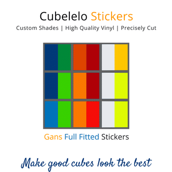 Cubelelo 3x3 56mm Gans Full Fitted Stickers