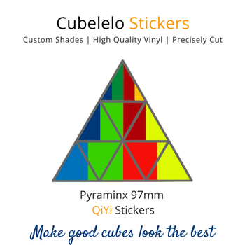 Cubelelo Pyraminx 97mm QiYi Stickers