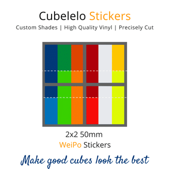 Cubelelo 2x2 50mm WeiPo Stickers