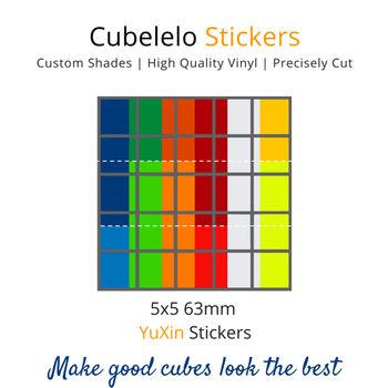 Cubelelo 5x5 63mm YuXin Stickers