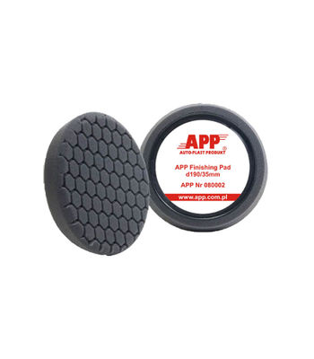 "APP 7.5"" Black Hexa Finishing Pad For Rotary Polisher"