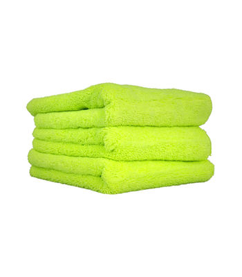 "Chemical Guys El Gordo Professional Fat lime Green Microfiber 16""X16"" ( Pack of 3 )"
