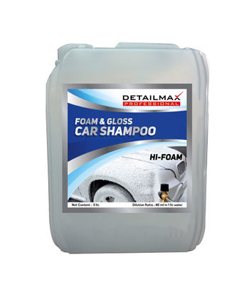 DETAILMAX  Foam & Gloss Car Wash Shampoo Concentrated - 5ltr
