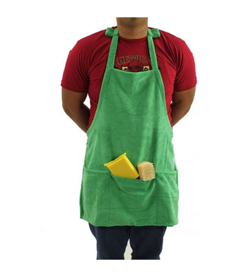 Chemical Guys Microfiber Detailing Apron With Pockets & Hook & Loop Straps For Cords