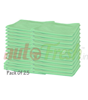 Autofresh Glass Cleaning Microfibre Cloths 40x40cm (Pack Of 25)
