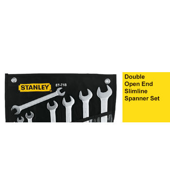 Stanley 1-87-718, Double Open End Slimline Spanner Set