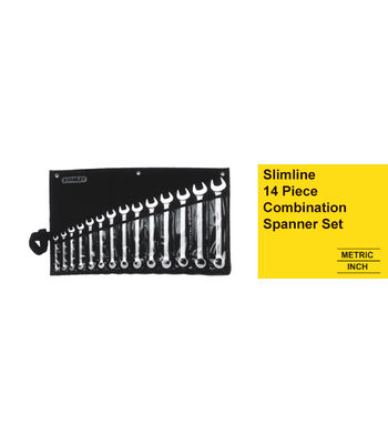 Stanley 1-87-709, Slimline 14 Piece Combination Spanner Set