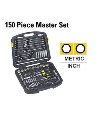 STANLEY 150 Pcs Master Set Mechanic Tool Kits,10Pc 1/4