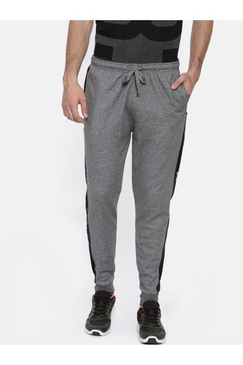 519426ceff49 Proline Joggers - Men's Grey Cotton Comfort Fit Stylish Track Pants with  Zippered Pockets for Sports, Gym, Workout, Running & Casual Wear