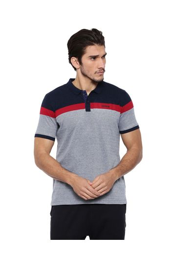 0656af8fa813 Proline Classic Blue Polo Neck Short Sleeve High Density Print Detail  Cotton Polo