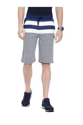 cc04c5e877 Proline Men Classic Blue Cotton Polyester Knee Length Narrow Fit Striper  Shorts