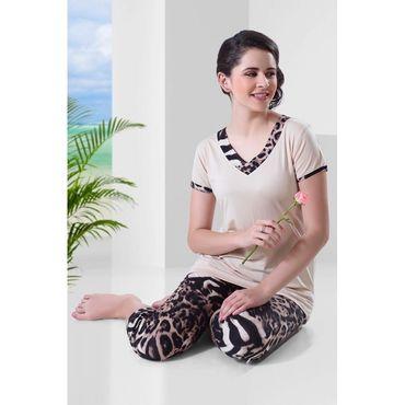 Top & Pajama Leapord Print