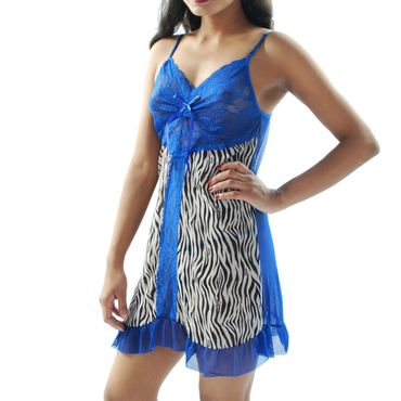 Animal Print Soft Mesh Babydoll