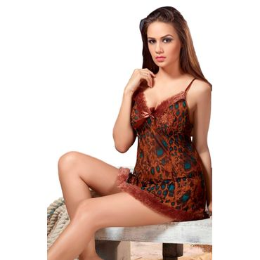 Lacy Leopard Print Nightdress