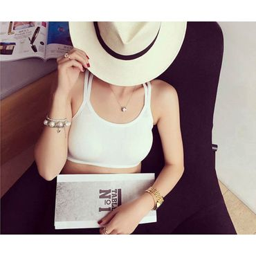 Cross back Bralet White