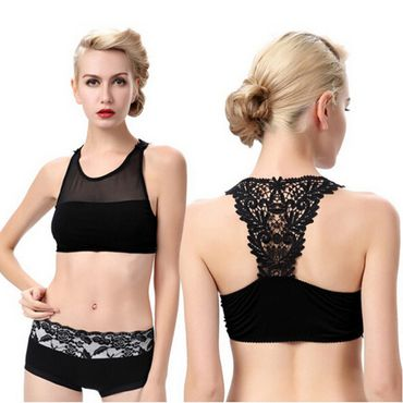 PASSION FLOWER BACK BRA TOP