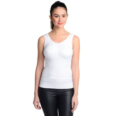 Wireless Chest Padded White Top
