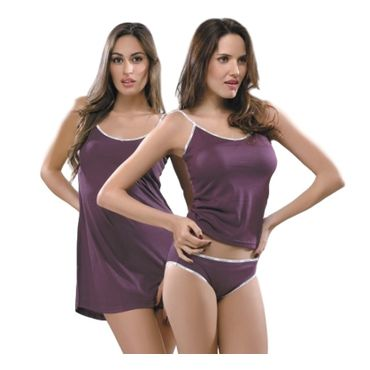 Slip 3 Piece in Wine