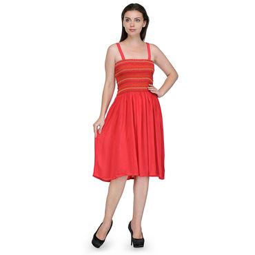 Pretty A-Line Red Dress