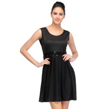 Sandy Black Short Dress