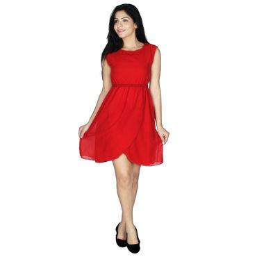 Retro Red A-Line Cute Dress