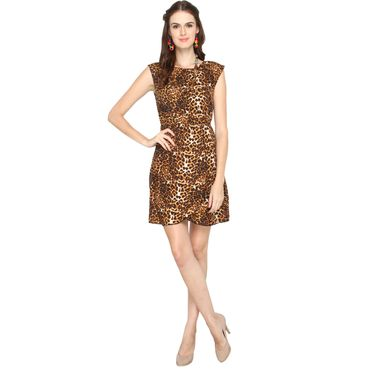 La Zoya Short Tiger print Dress