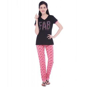 Top & Pajama in Black Color