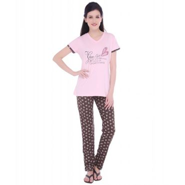 Top & Pajama in Pink Color