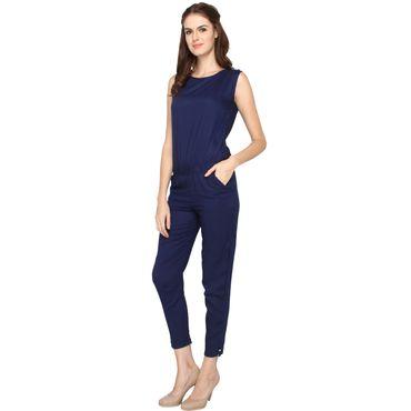 La Zoya Stylo Blue Jumpsuit