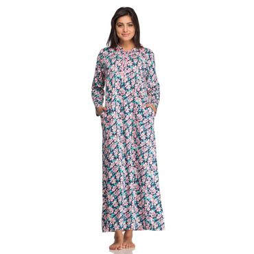 Long Nighty in Peach floral