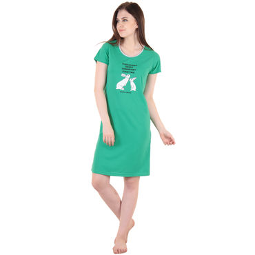 Green Hosiery Short Nighty