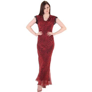 Red Chiffon Nighty