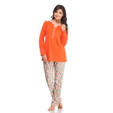Top & Pajama in Orange Color