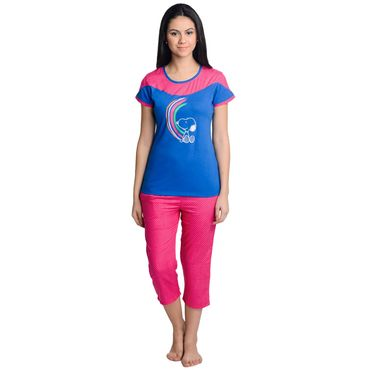 Sale Blue Pink Top Capri