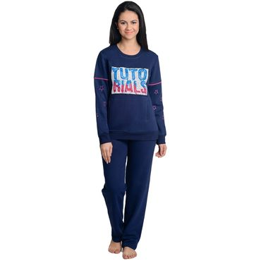 Navy Blue Pajama Set