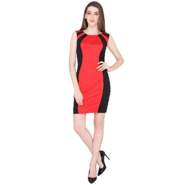 Karina Red black Dress