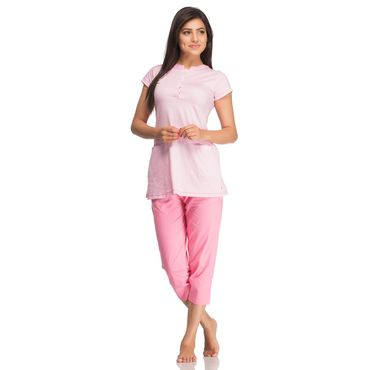 Top & Shorts in Baby Pink Color