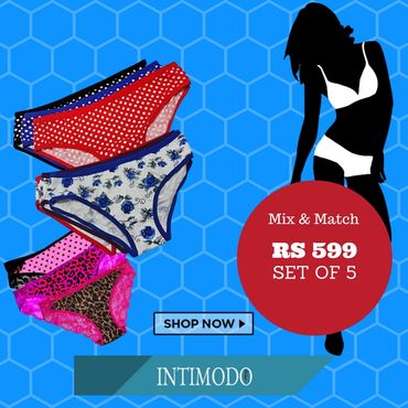 Set of 5 Panties for Rs 599