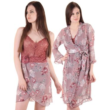 Private Lives Rose Chiffon 2Pcs Set