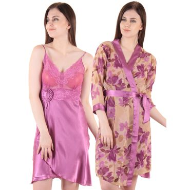 Rose Satin 2Pcs Set