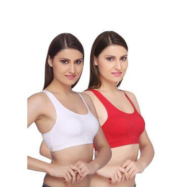 Sports BRA - White & Red Pack