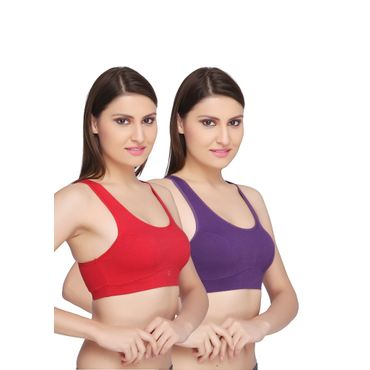Sports BRA - Red & Purple Pack