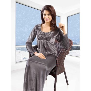 Vellure  Long Nighty Dark Grey