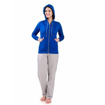 Fleece Night Suit Royal Blue