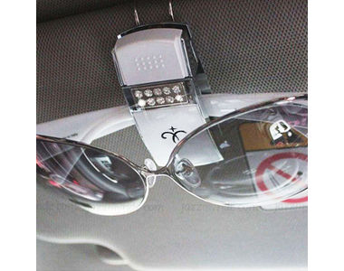 Speedwav Sunglasses and Memo Clip Holder for Car- Silver