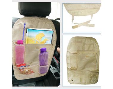 Speedwav Car Back Seats Multi-functional Pockets Storage Organiser-Beige