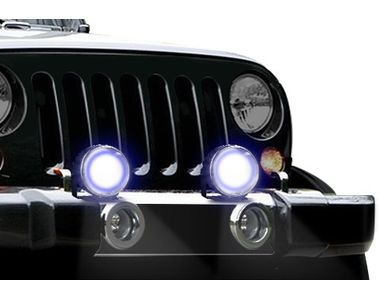 Speedwav YCL DRL COB LED 3.5 Inches Car Aux Lights With DRL-Set Of 2