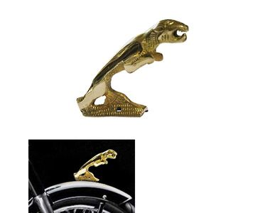 Speedwav Brass Jaguar Bike Front Fender Decorative for Royal Enfield