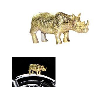 Speedwav Brass Rhinoceros Front Fender Decorative for Royal Enfield