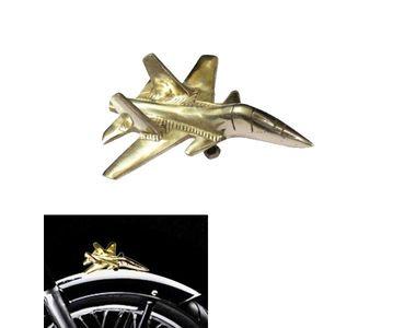 Speedwav Brass Jet Plane Bike Front Fender Decorative for Royal Enfield